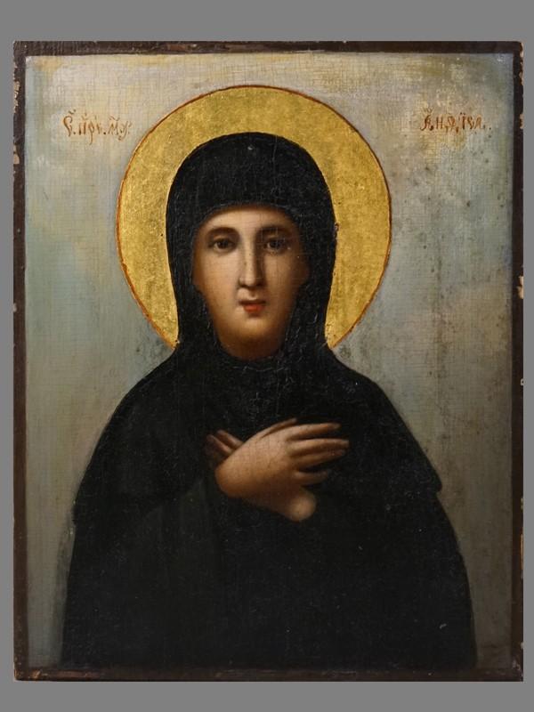 Антиквариат. Икона Святая Преподобная Мученица Анфиса