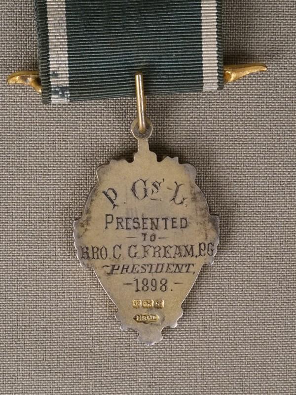 Масонский знак, серебро по реактиву, эмаль. Англия, XX век
