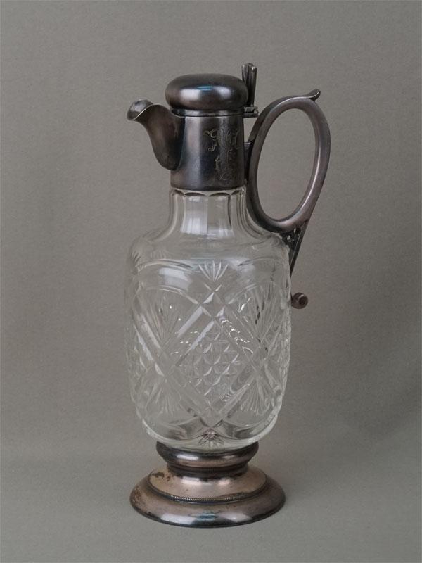 Графин, металл, серебрение, хрусталь. Геннигер иКо, начало XX века, высота— 26,5см