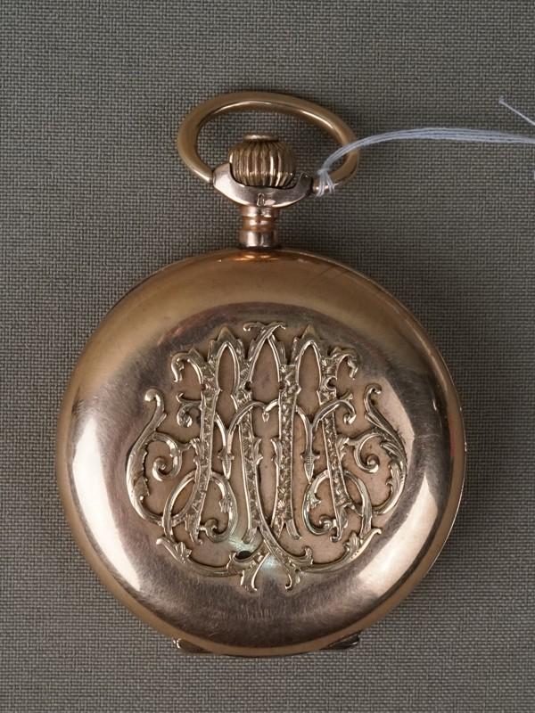 Часы карманные, золото 56 пробы, три крышки, общий вес 98,36г., диаметр 5,5см