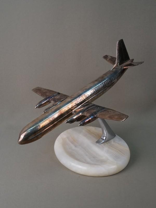 Визитница «Самолет», металл, оникс. Западная Европа, начало XX века, высота— 22,5см