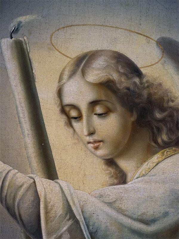Икона «Ангел Молитвы», холст, масло, XIX века, 107 × 71см