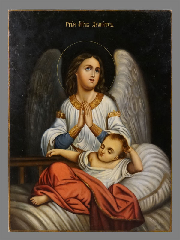 Антиквариат. Икона Святой Ангел Хранитель