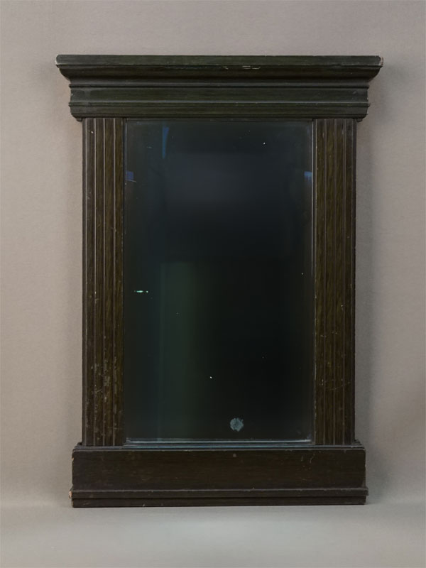 Зеркало настенное, дерево, левкас, покраска, конец XIX – начало XX века, 40 × 27см