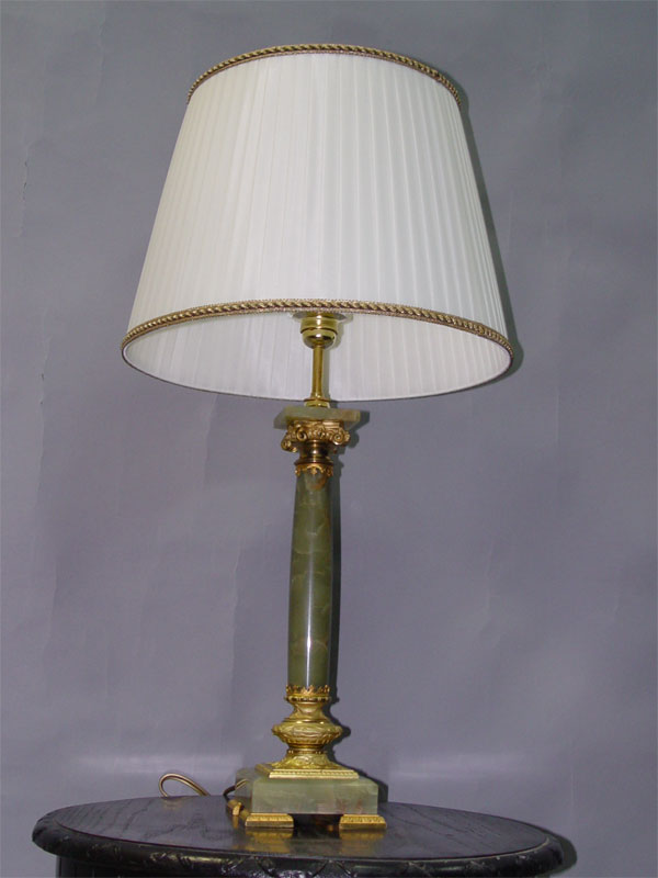 Настольная лампа, оникс, бронза, стекло, 1 световая точка, 79 × 43см (В×Ш)