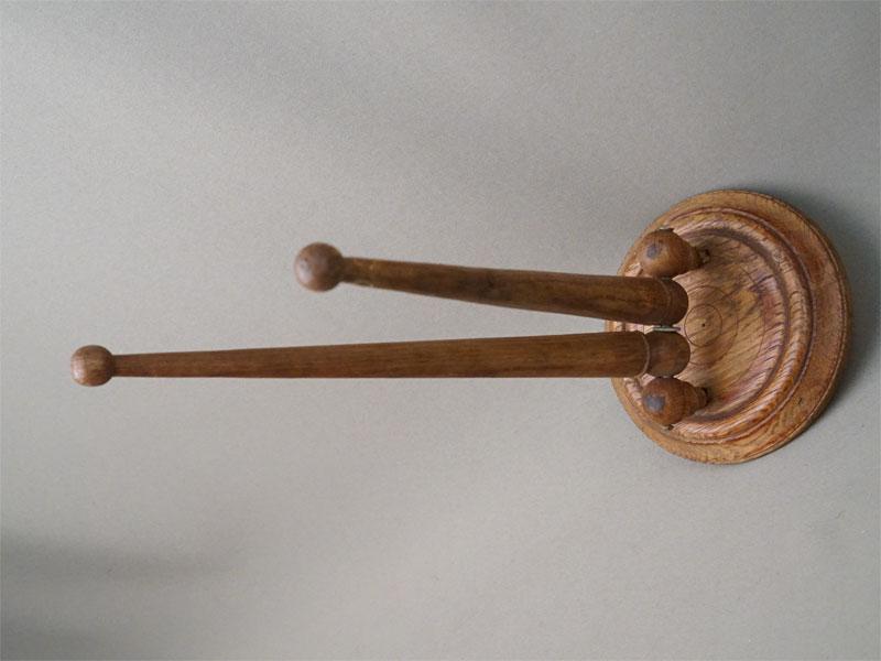 Вешалка для полотенец, дерево, начало XX века, 36 × 14см
