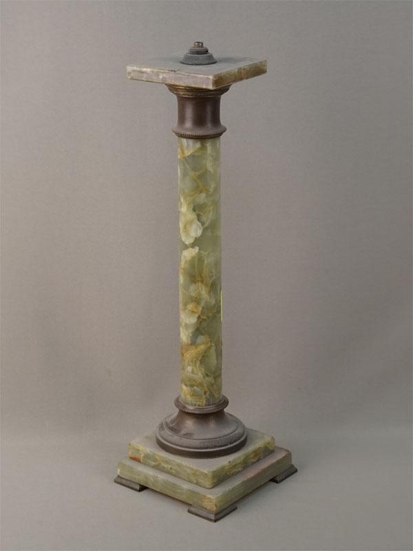 Основание настольной лампы, оникс, латунь, высота 49см