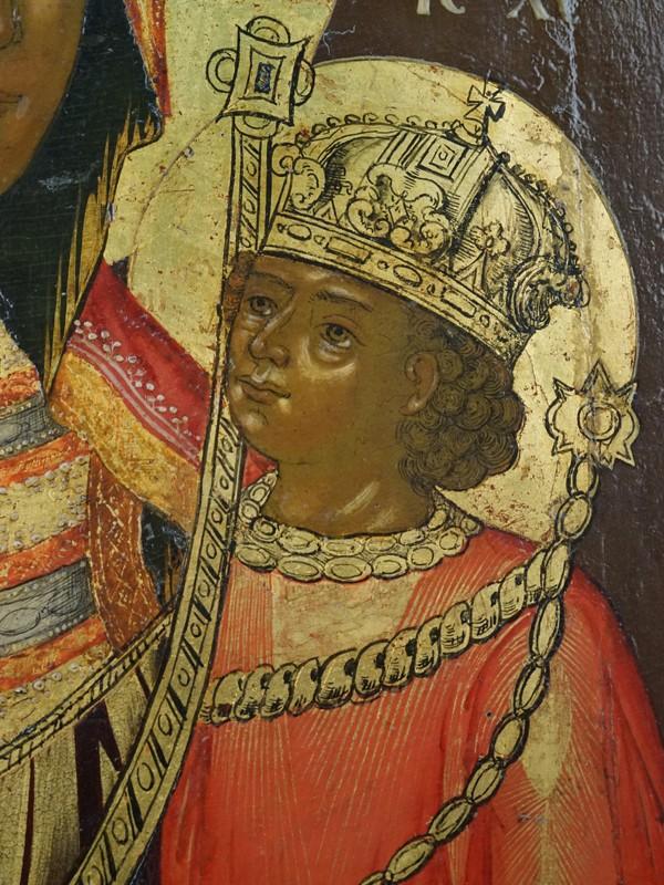 «Пресвятая Богородица Ченстоховская», дерево, левкас, темпера, золочение. Ярославль, XVIII век, 31,8 × 26,5см
