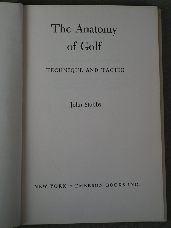 Стоббс, Джон. Анатомия Гольфа. Техника и тактика.