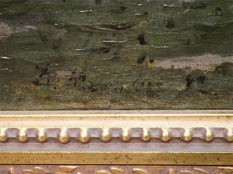 Картина в раме. Мартен Дмитрий Эмильевич (1860 – 1918), «Старый пруд», холст, масло, 69,2 × 107,3см, 1890-е годы. Атрибуция