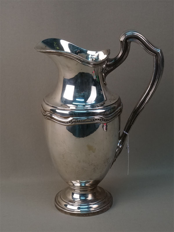Кувшин, серебро 800 пробы, общий вес 1453г., высота 32,5см