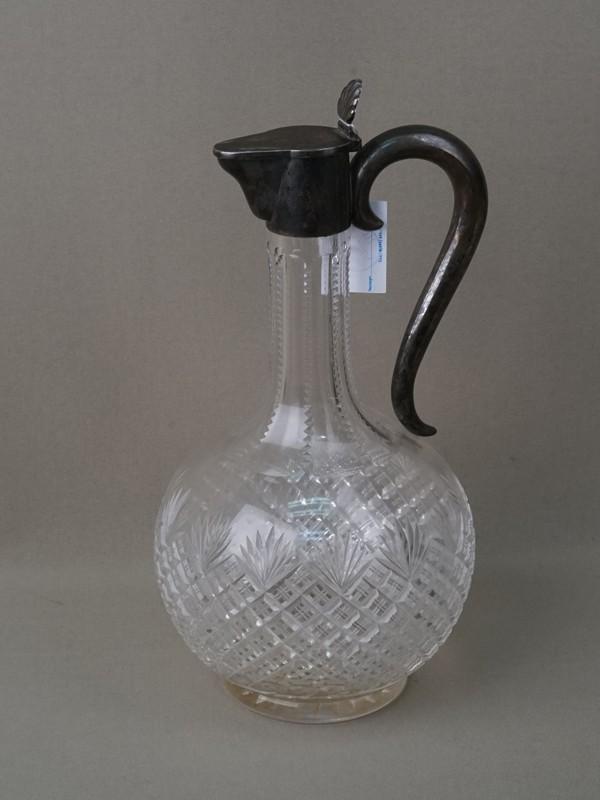Графин, стекло, серебро по реактиву, высота 28см