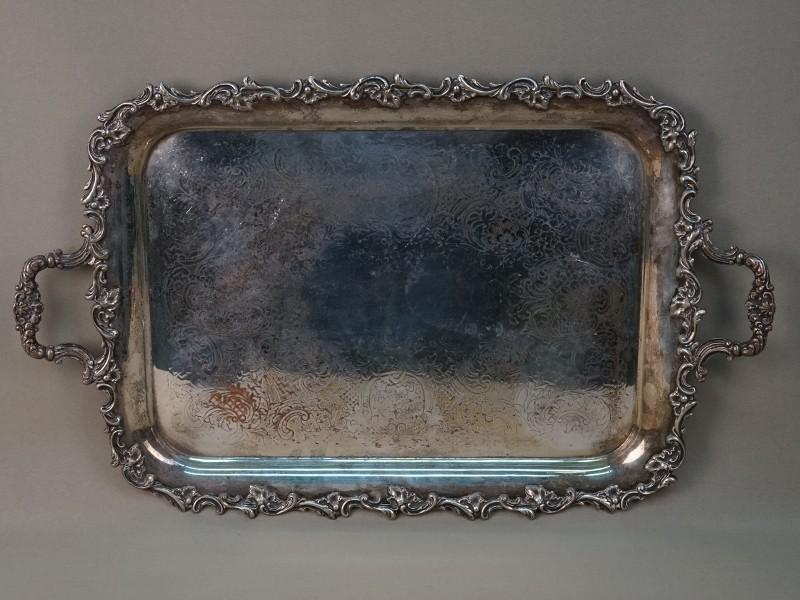 Поднос, металл, серебрение, 55 × 33,5см. Франция, конец XIX века