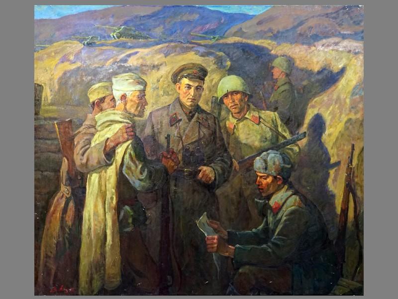 Картина. Леонтович В.А., «1942 год», холст, масло, 141 × 160см, 1990 год