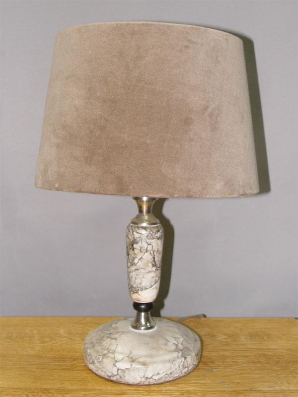 Лампа настольная, мрамор, 1 световая точка, 42 × 27см. СССР, середина ХХ века