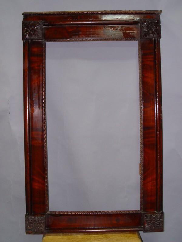 Зеркало в стиле ампир, красное дерево, середина XIX века, 116 × 73см (требует реставрации)