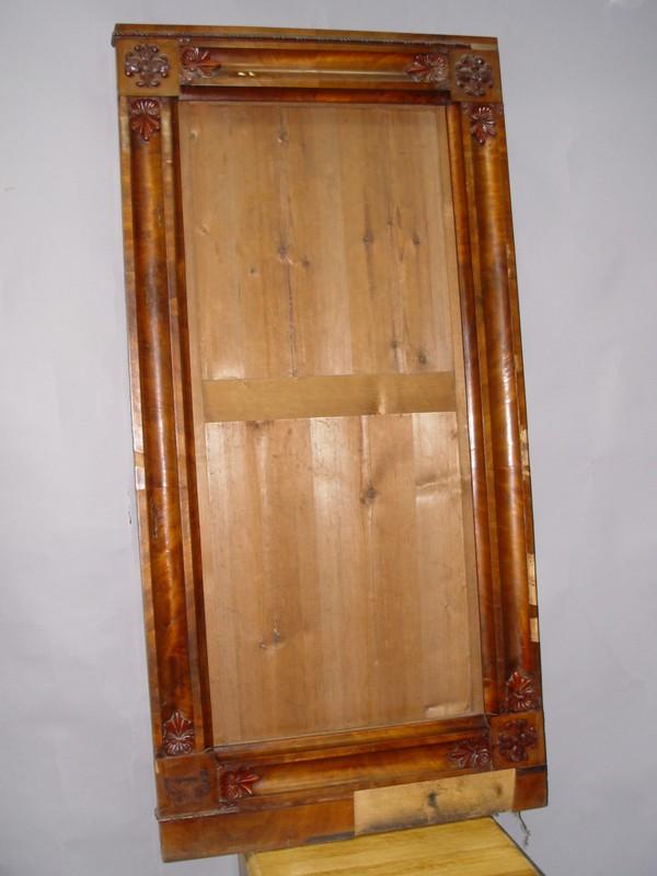 Зеркало в стиле ампир, красное дерево, середина XIX века,  155 × 77см (требует реставрации)