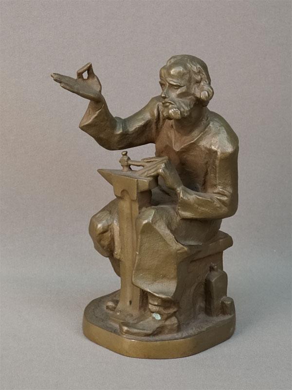 Скульптура «Кузнец Левша», бронза, автор В.И.Котов, 1971 год, высота 16см