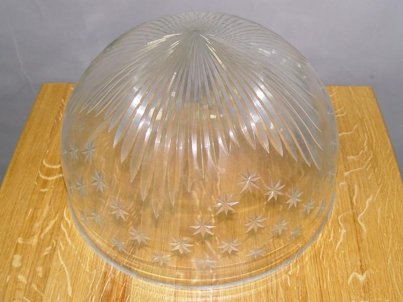 Плафон бесцветное стекло, огранка, 21 × 35,5см