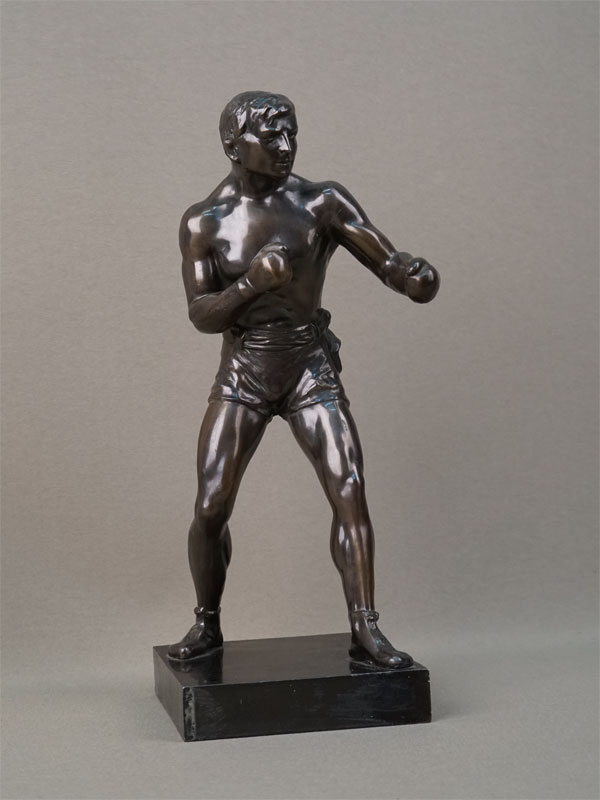 Скульптура «Боксер», бронза, литье, патинирование, высота 26см, XX век