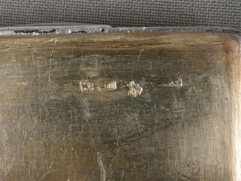 Табакерка, серебро 84 пробы, чернь, позолота, общий вес 47,88г., 5,5 × 3см