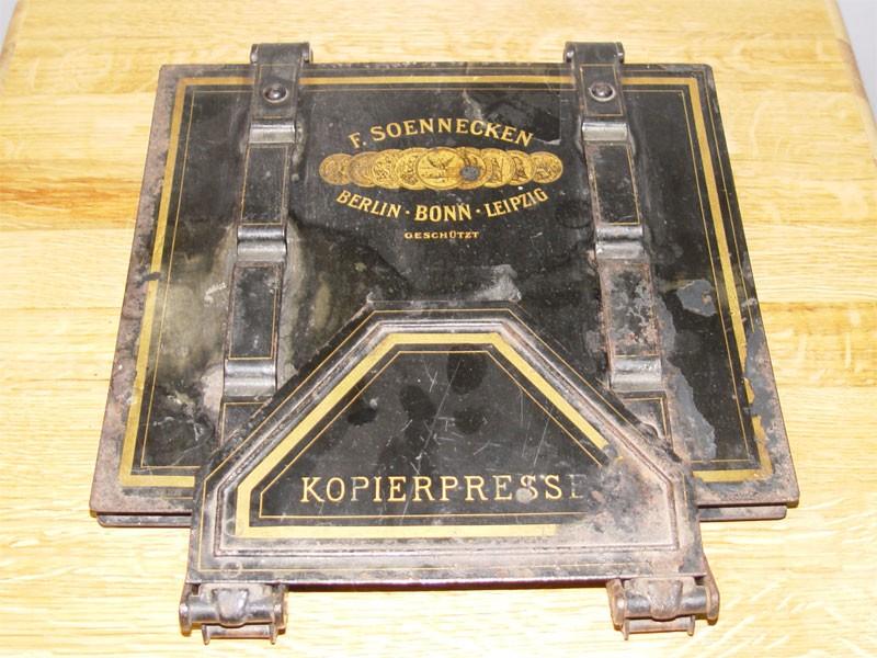 Пресс для копировальных работ, черный металл, покраска, начало ХХ века  32 × 29см