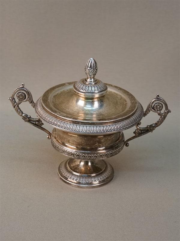 Икорница, серебро 800 пробы, общий вес 272,25г., диаметр 10см