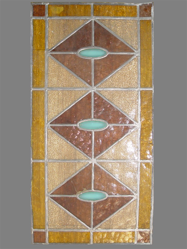 Витраж, цветное стекло, начало XX века, 33 × 55см