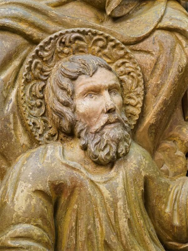 Створка Царских Врат «Святые Евангелисты Иоанн и Марк», дерево, левкас, роспись, золочение, 116 × 57,5см, XVIII век