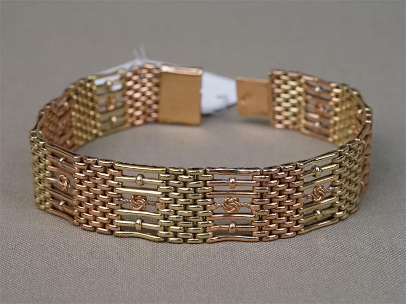 Браслет, золото 56 пробы, общий вес 36,18г.
