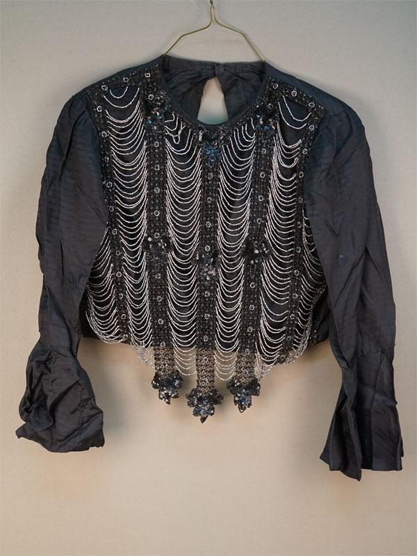 Блуза, шелк, бисер, стеклярус, пайетки, начало XX века