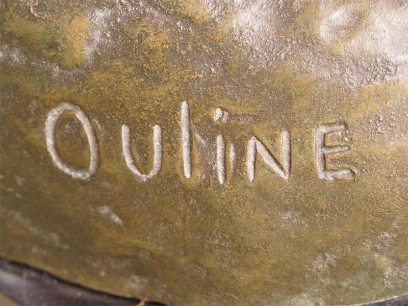 Скульптура «Капитан у штурвала», бронза, литье, патинирование; постамент мрамор. Западная Европа, начало XX века, автор Ouline, длина 55см, высота 37см