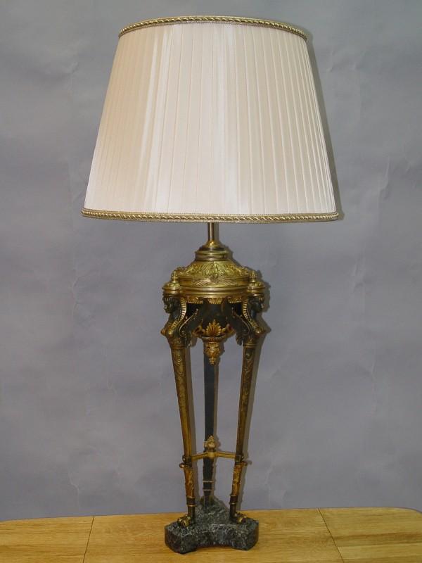 Лампа настольная «Египетская», бронза, патинирование, 94 × 46см
