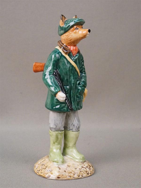 Скульптура «Лис-охотник», фарфор, роспись. Англия,  высота 15см, вторая половина XX века
