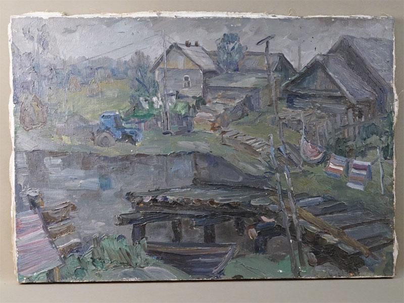 Картина. Молчанов В.И., «Вечер в Ферапонтово», холст, масло, 60 × 45см
