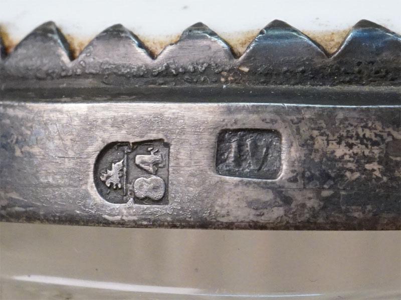 Кружка пивная «Охотник, рыбак и шахтер», серебро 84 пробы, стекло, фарфор, конец XIX века