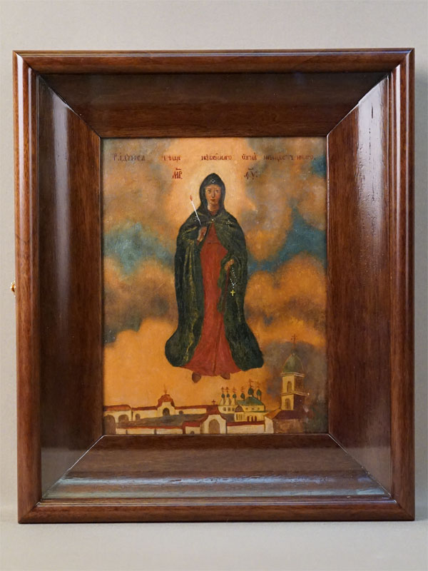 Икона «Богородица Свеча Неугасимая», дерево, масло, конец XIX века, 21,5 × 16,5см