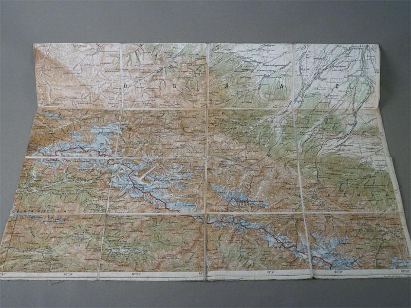 Северный Кавказ. Балкария, Сванетия. Географическая карта. Литография. Гравировал  Кол. Рег. Эрфурт в 1899 г.  45 × 60 см.