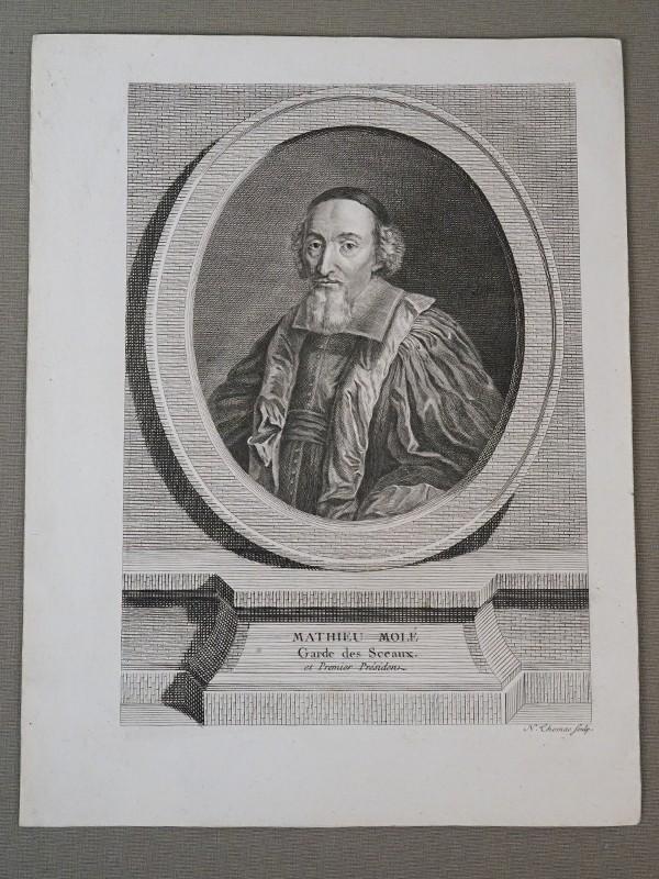 Матьё Моле́, министр юстиции. Гравюра на меди N. Thoma, 1740. 25 × 19 см.