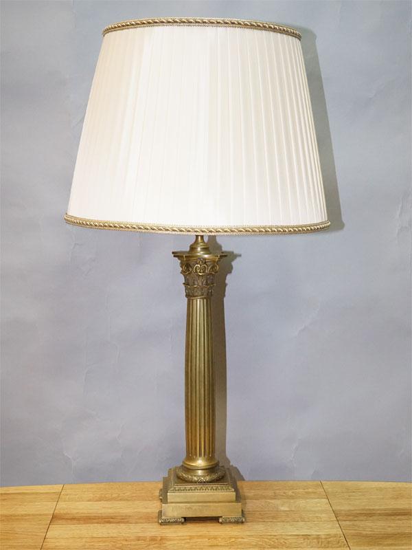 Лампа настольная «Колонна», бронза, 1 световая точка (стандартный патрон Е-27), 78 × 43см