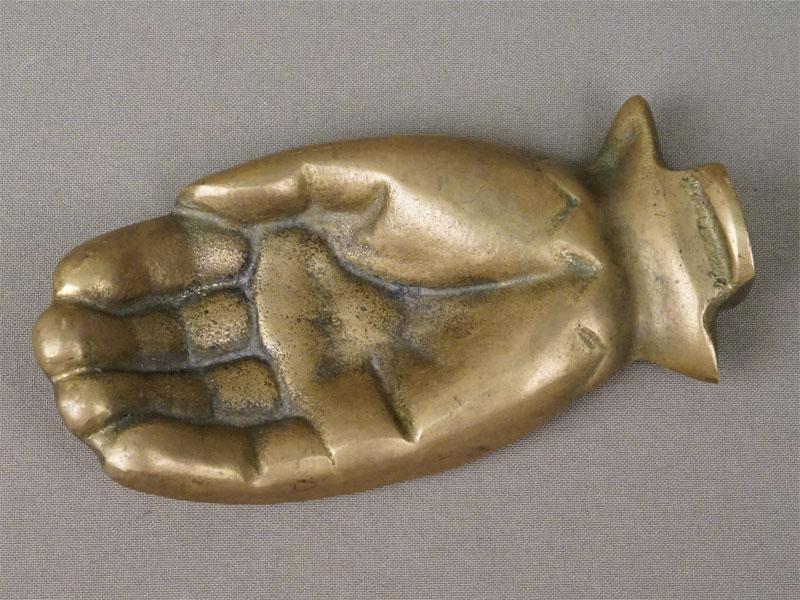 Пепельница «Ладонь», бронза, XX век, длина 13,5см