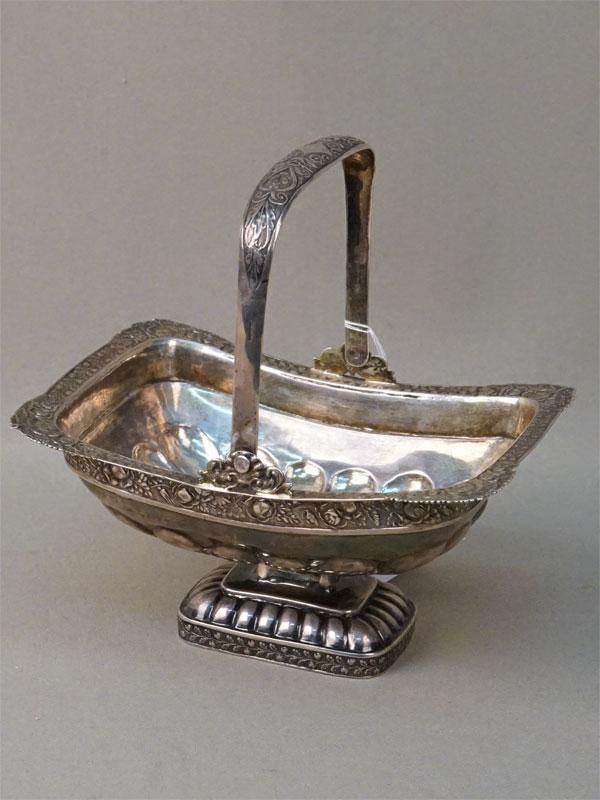 Конфетница, серебро 84 пробы, общий вес 201,4г. Санкт-Петербург, середина XIX века