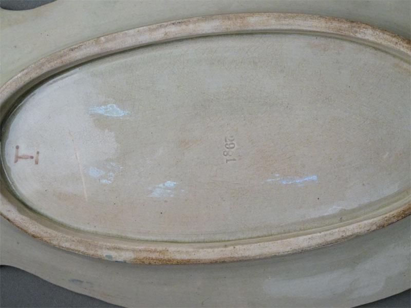 Блюдо «Кабачок», фаянс, роспись, длина 31см, начало XX века