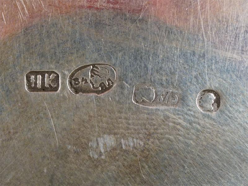 Сухарница, серебро 84 пробы, золочение, общий вес 583г.,  21 × 16см