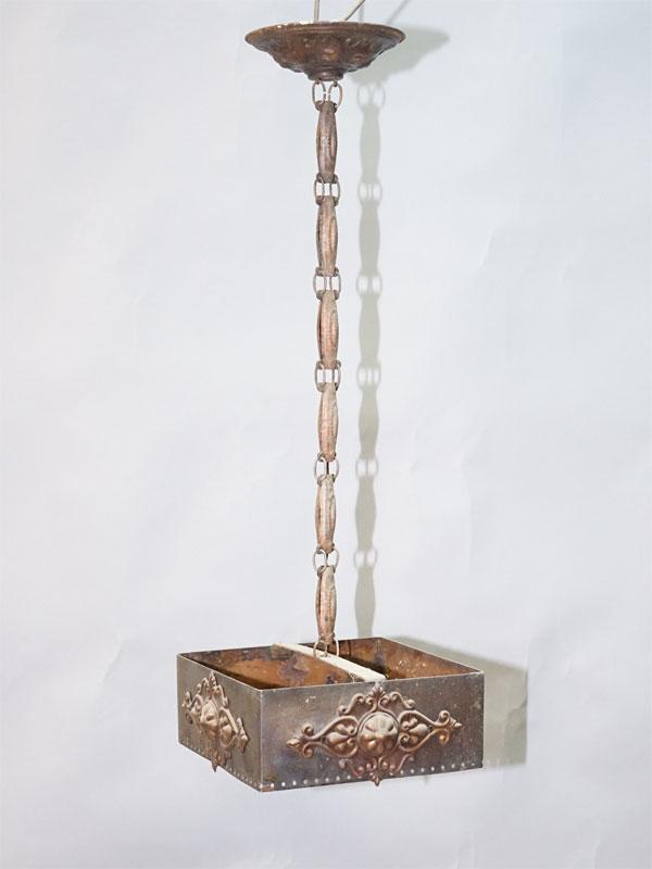 Светильник — ампель, жесть, без проводки, 60× 20× 20см