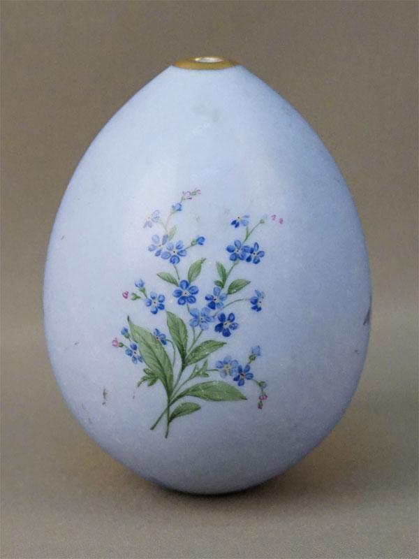 Яйцо пасхальное «Цветы», фарфор, роспись, золочение, высота 12см