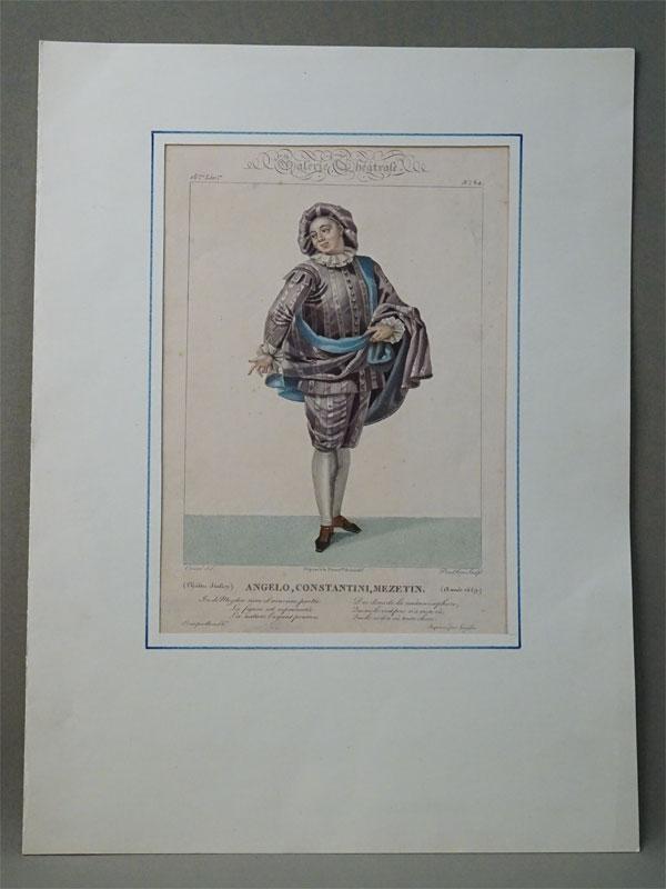 Angelo,Constantini,mazetin (пьеса:Annee 1659.) Theatre Italien Galerie Theatrale. 16 liv.№64.Рисовал: Coeure del. ,гравировал: P. Prud'hon sculpt. Ок. 1800.  33 × 23,5см.Редкость.