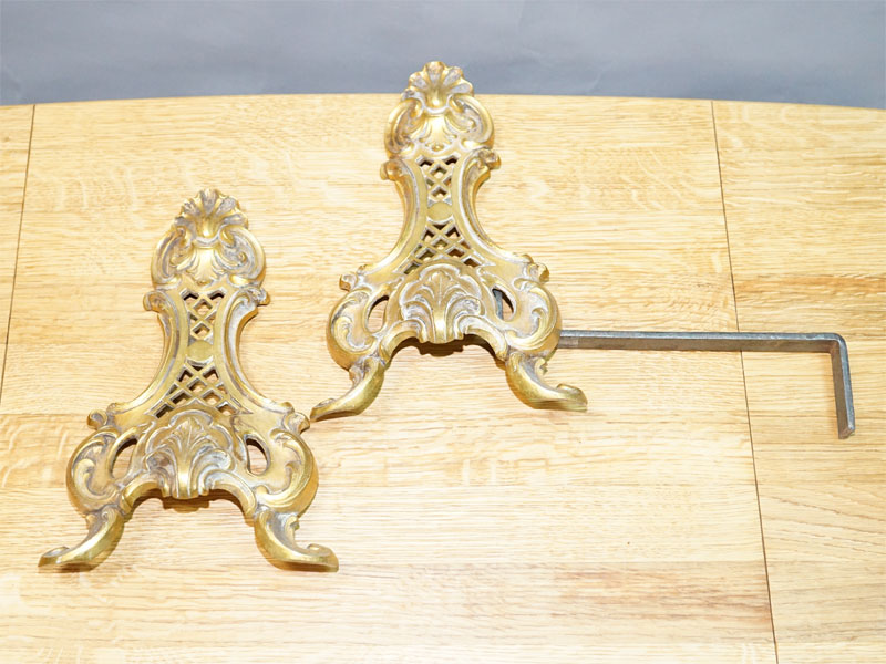 Детали каминной фурнитуры, бронза, середина ХХ века, размер 27 × 18см