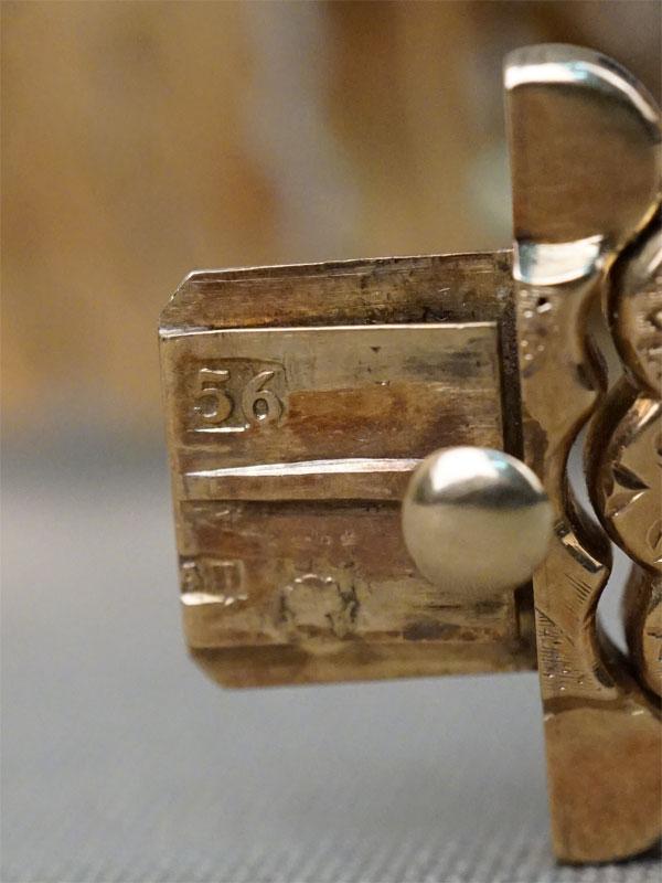 Браслет в барочном стиле, золото 56 пробы, аметист («Овал» — 15,5ct), общий вес 45г. Москва, 1840-50-е годы