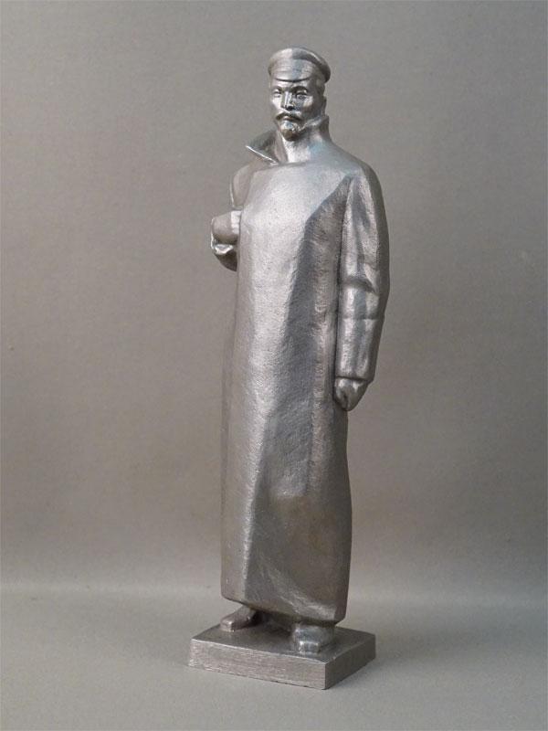 Скульптура «Ф.Э. Дзержинский», силумин, середина XX века, высота 30,5см